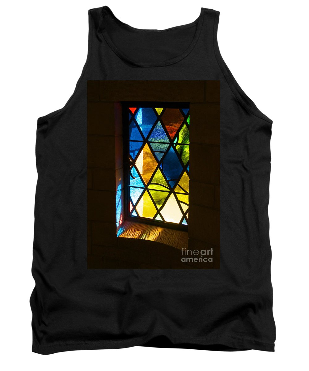 Stained Glass Tank Top featuring the photograph Stained Glass by Ann Horn