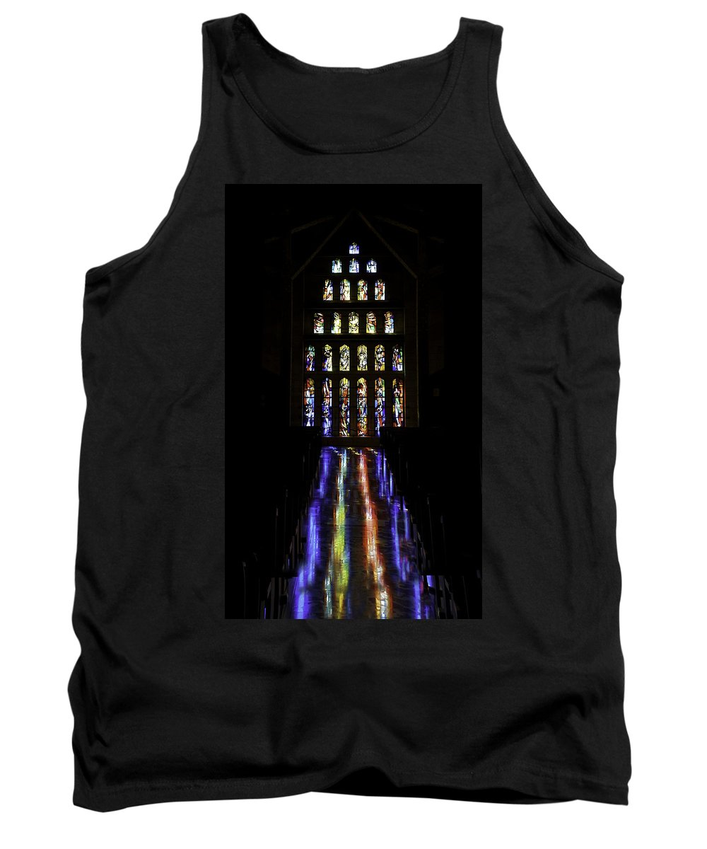 Church Of The Annunciation Tank Top featuring the photograph Stained Glass II by Joseph Yvon Cote