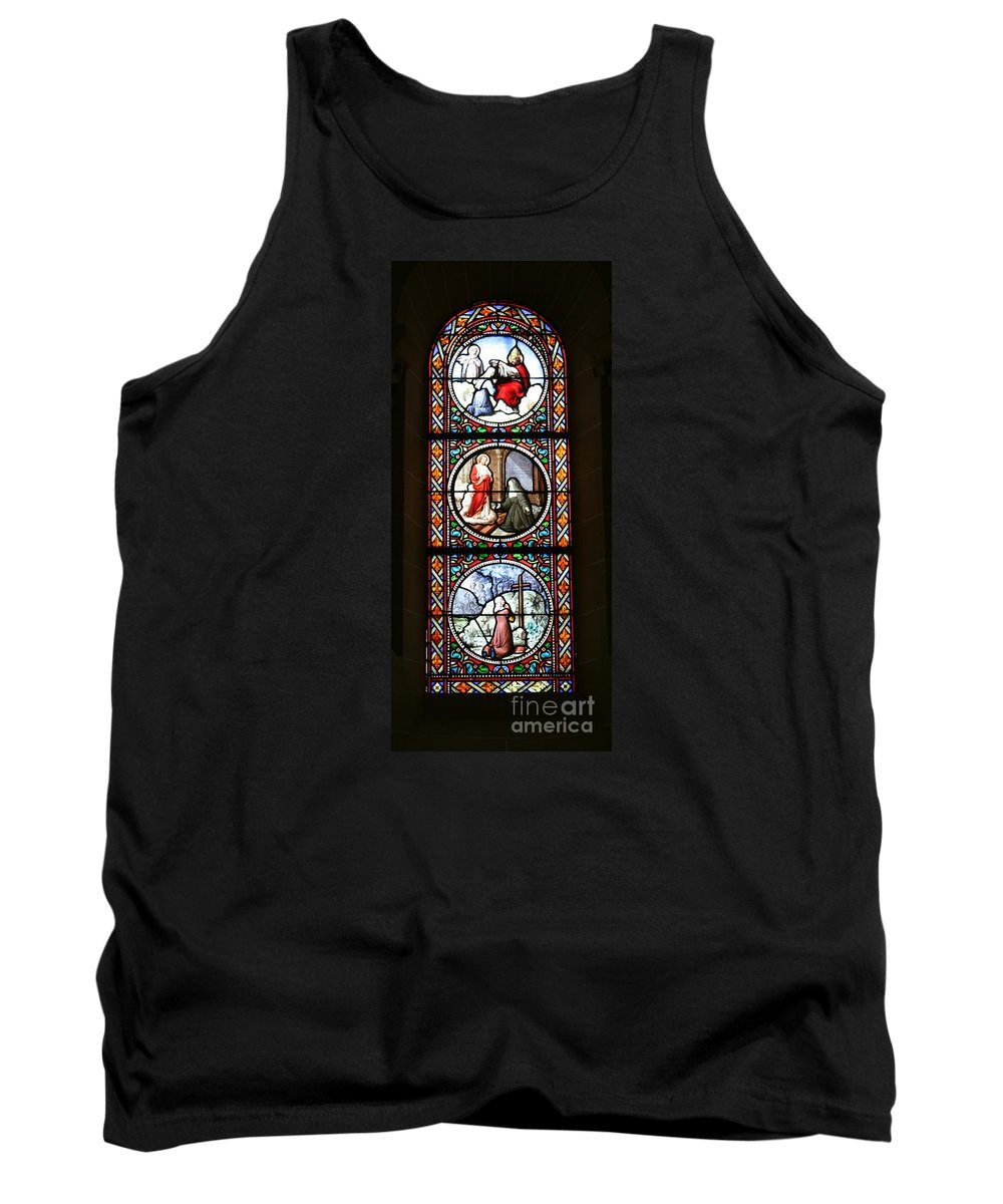 Stained Glass Window Tank Top featuring the photograph Stained Glass Window Iv by Christiane Schulze Art And Photography