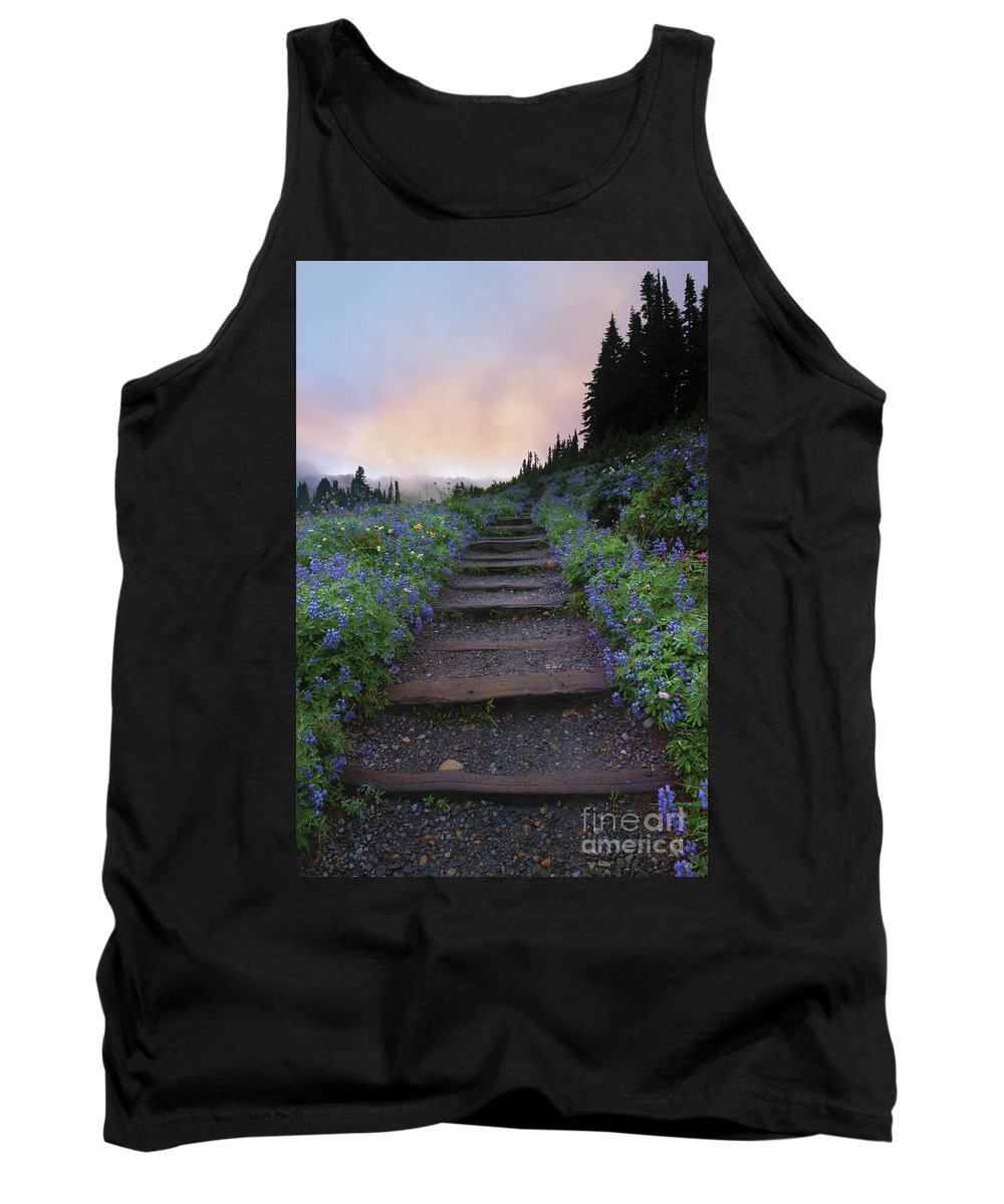 Stairway Tank Top featuring the photograph Stairway To The Heavens by Mike Dawson