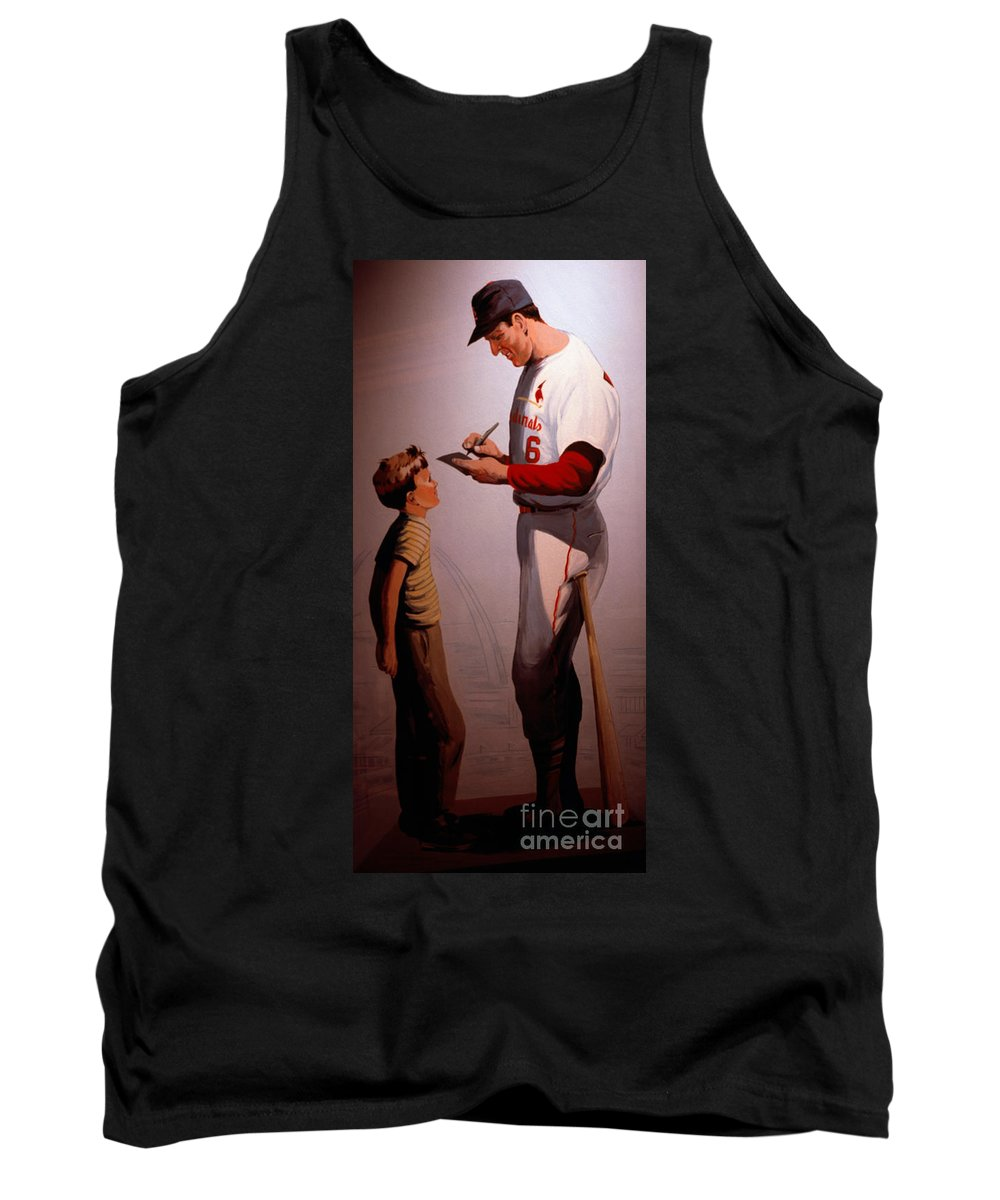 Baseball Tank Top featuring the photograph Stan Musial Mural by Tracy Knauer