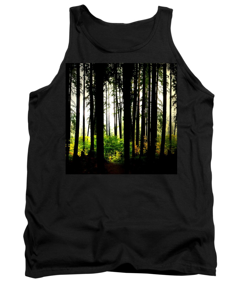Vancouver Tank Top featuring the digital art Stanley Park Triptych Right by Patricia Keith