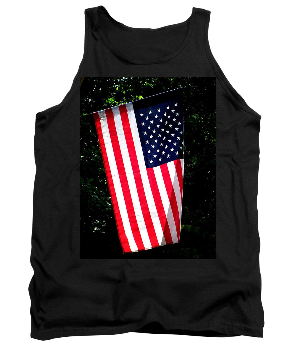 Flag Tank Top featuring the photograph Star Spangled Banner by Greg Simmons