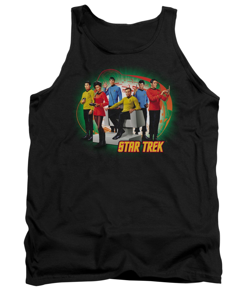 Star Trek Tank Top featuring the digital art Star Trek - Enterprises Finest by Brand A