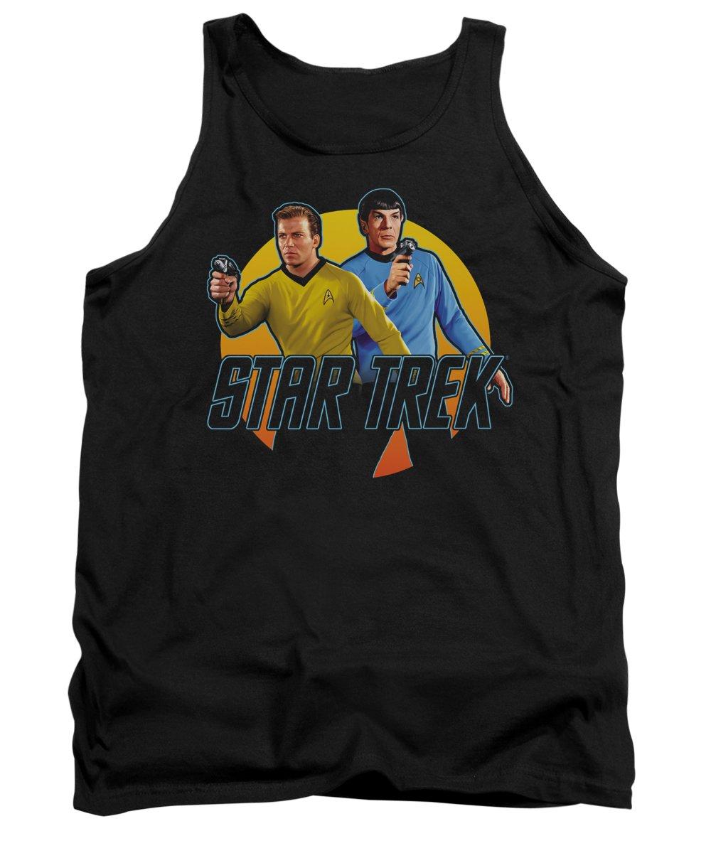 Star Trek Tank Top featuring the digital art Star Trek - Phasers Ready by Brand A