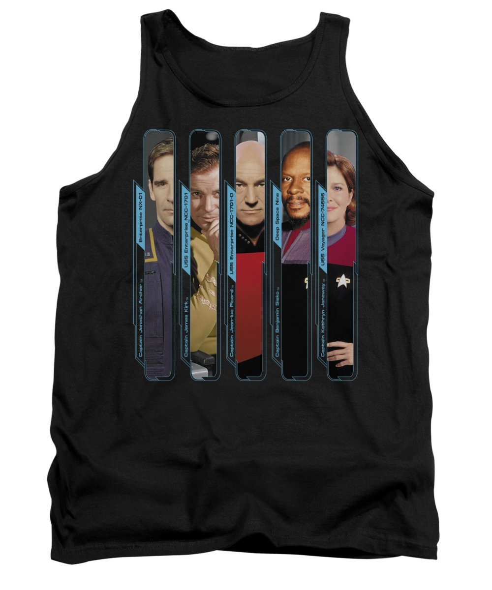 Star Trek Tank Top featuring the digital art Star Trek - The Captains by Brand A