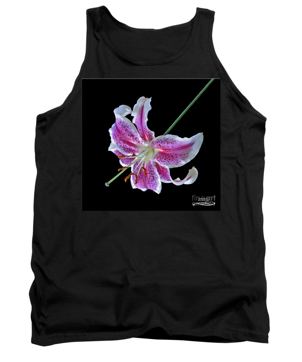 Flower Tank Top featuring the photograph Stargazer 2 by Rebecca Morgan