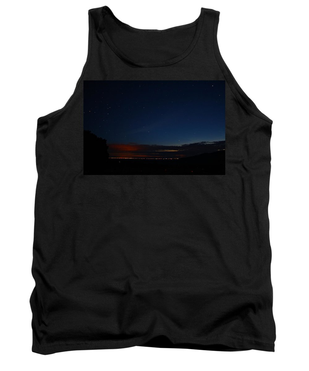 Sand Tank Top featuring the photograph Starlit Sand Dunes by Marcelo Albuquerque