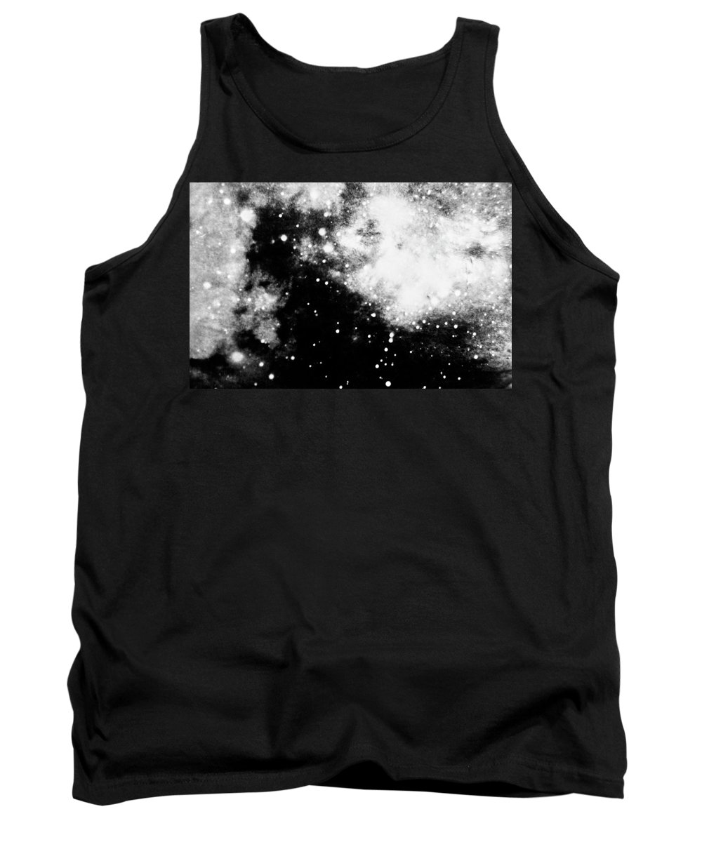 Art Tank Top featuring the photograph Stars And Cloud-like Forms In A Night Sky by Duane Michals