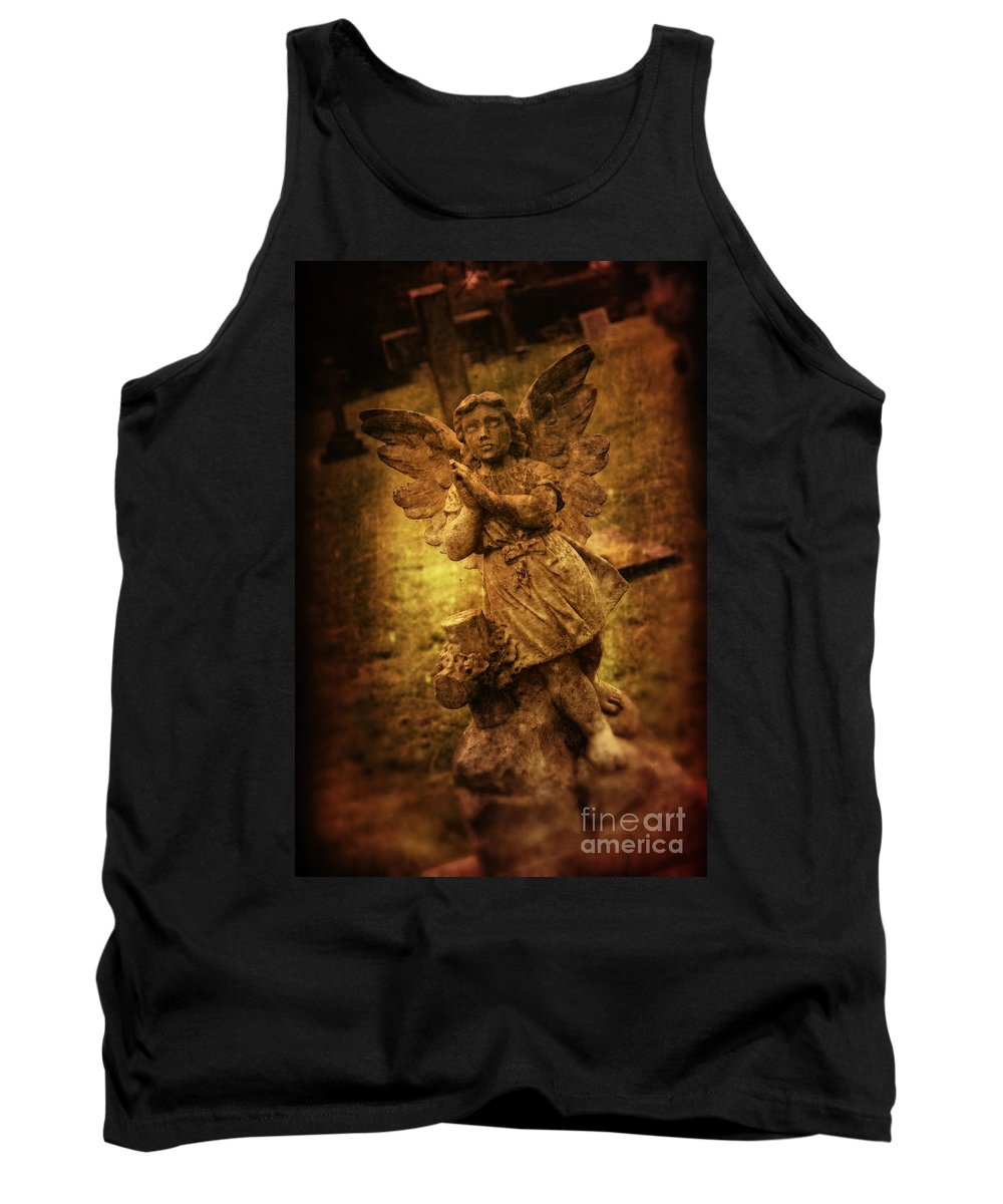 Angel Tank Top featuring the photograph Statue Of Angel by Amanda Elwell