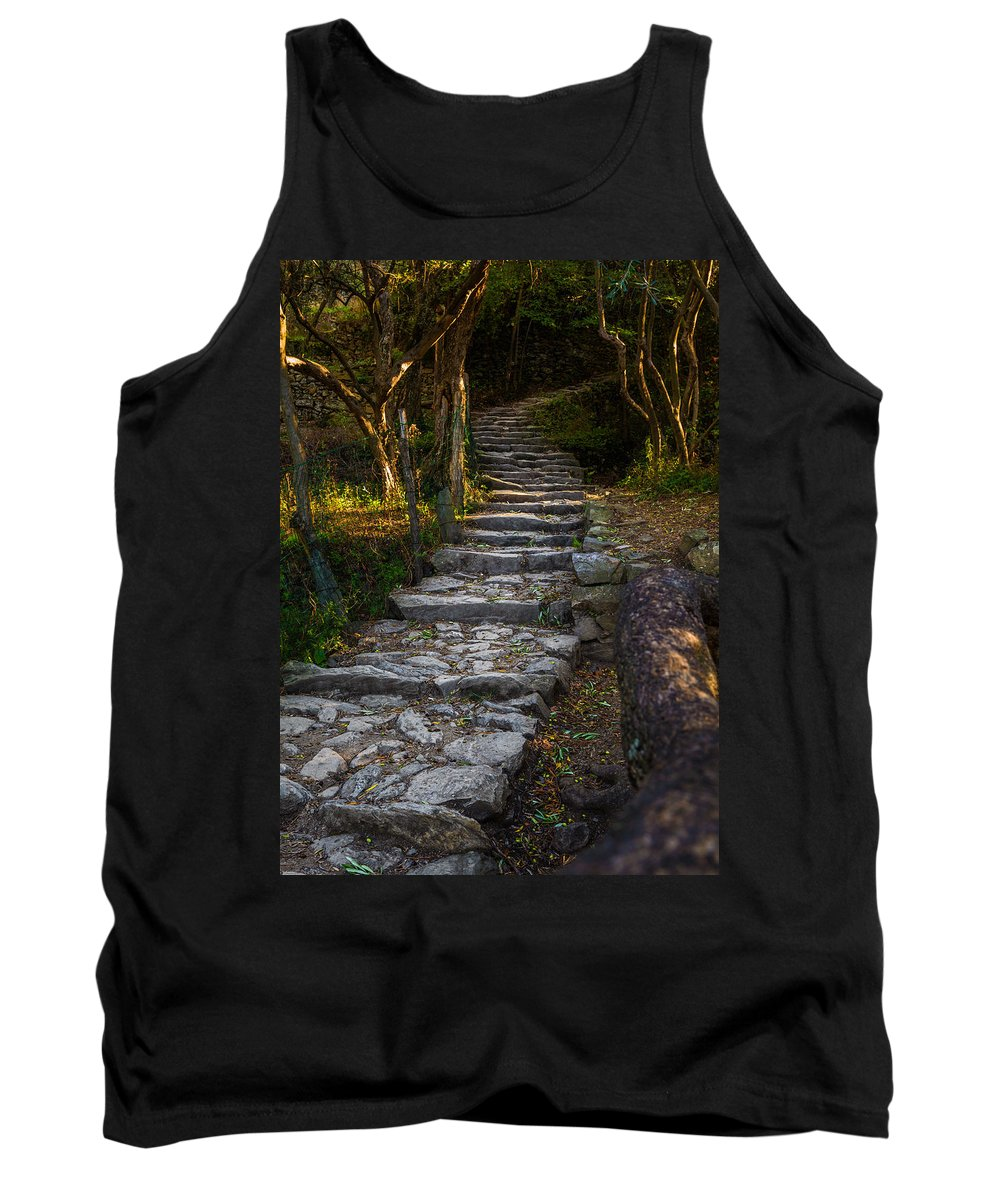Cinque Terre Tank Top featuring the photograph Stairway To ... by Ludwig Riml