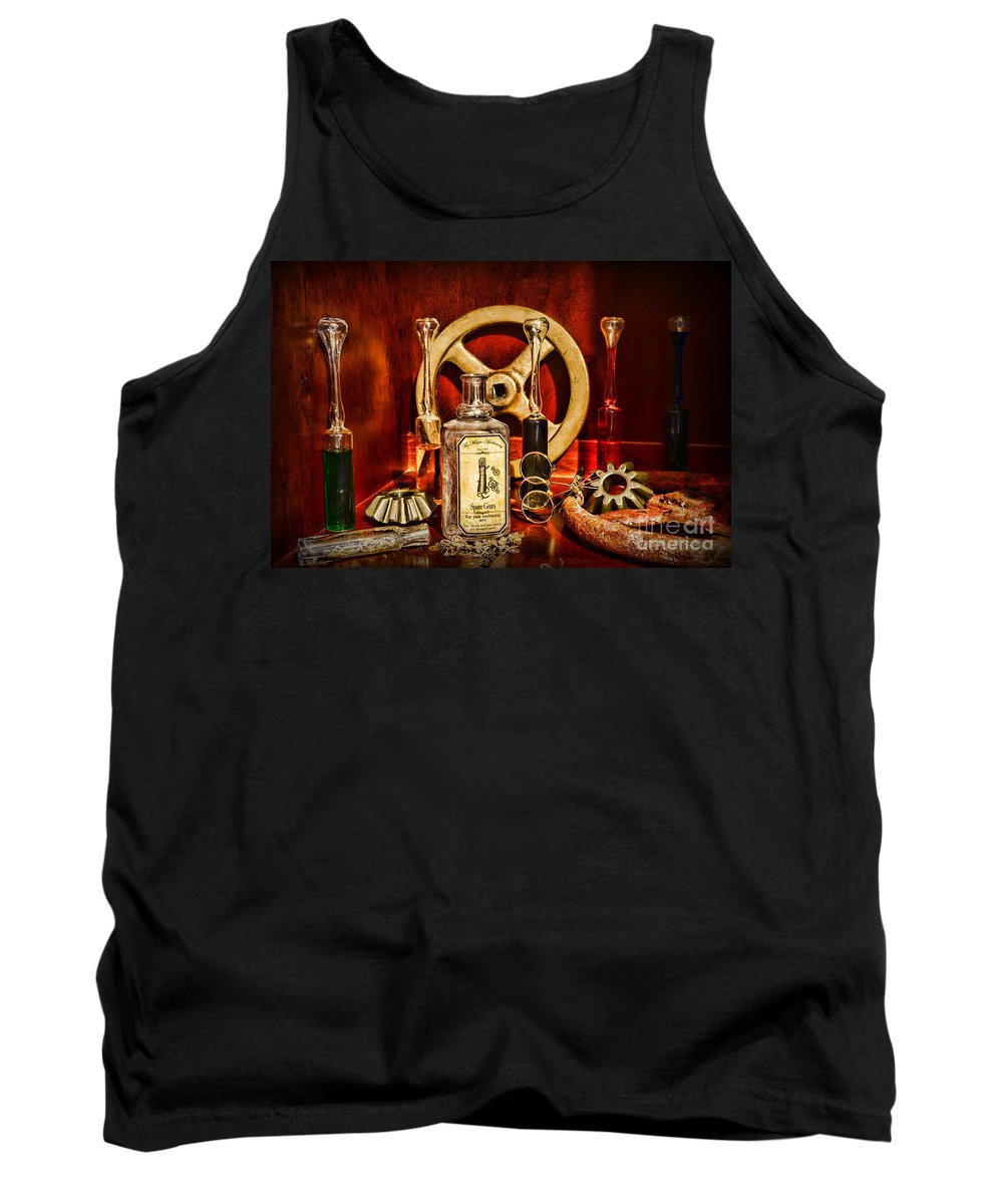 Paul Ward Tank Top featuring the photograph Steampunk - Spare Gears - Mechanical by Paul Ward