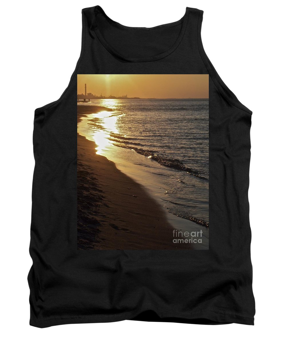 Steel Mill Tank Top featuring the photograph Steel Mill Sunset by Pamela Clements