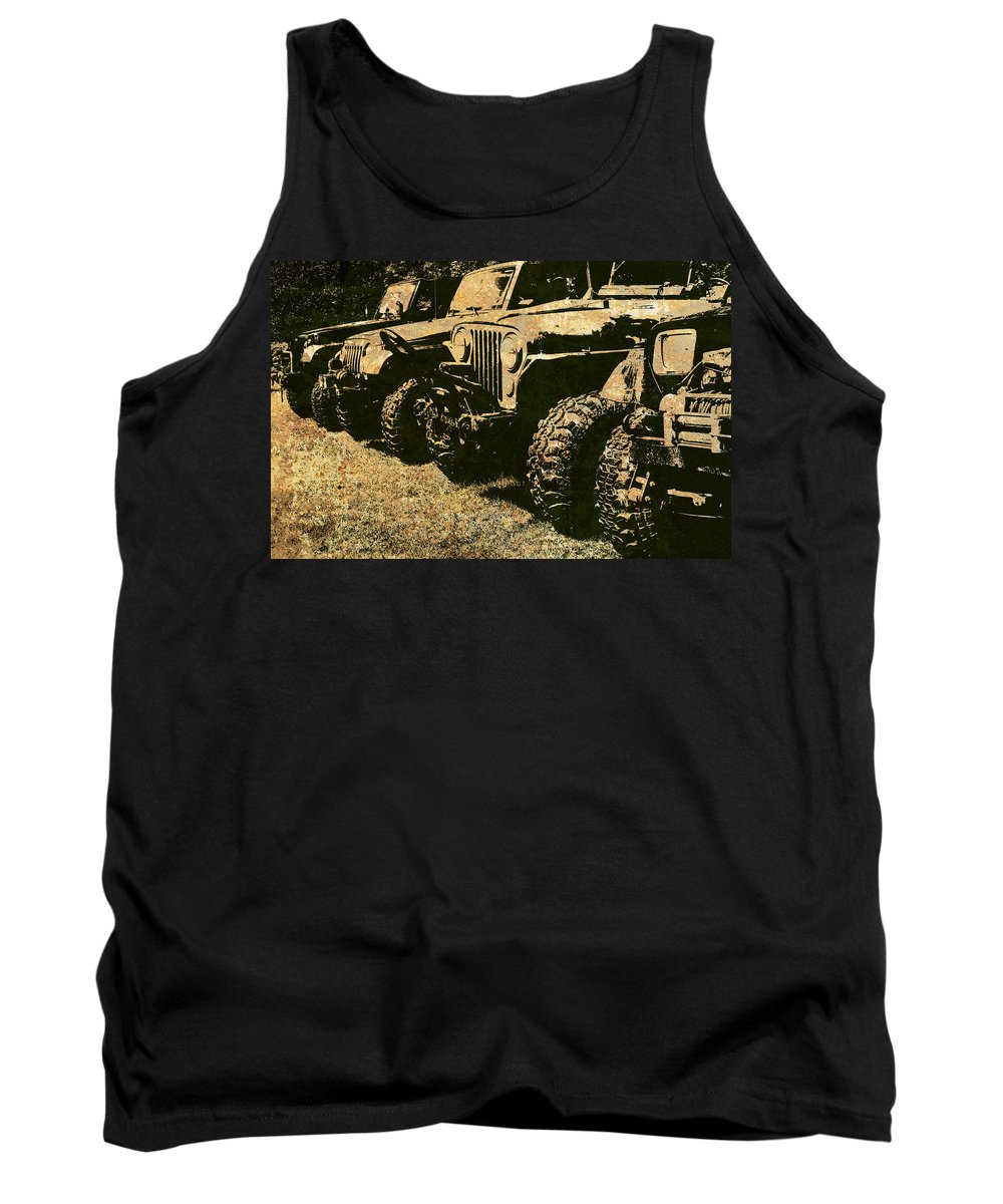 Jeep Tank Top featuring the photograph Sticks And Stones ... Won't Break My Bones by Luke Moore
