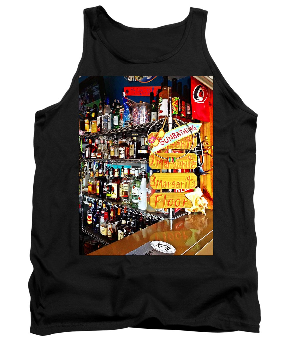Alcohol Tank Top featuring the photograph Stocked Bar At Jax by Joan Meyland