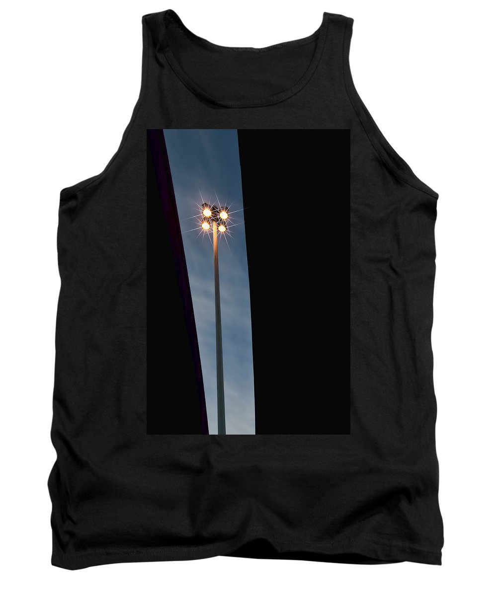 Black Tank Top featuring the photograph Street Lamp by Maria Coulson