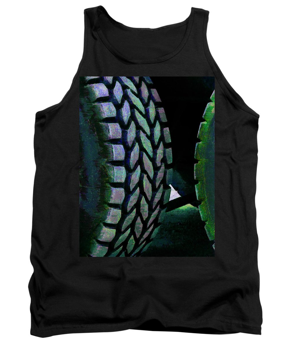 Luminescent Tank Top featuring the photograph Street Tread by Steve Taylor