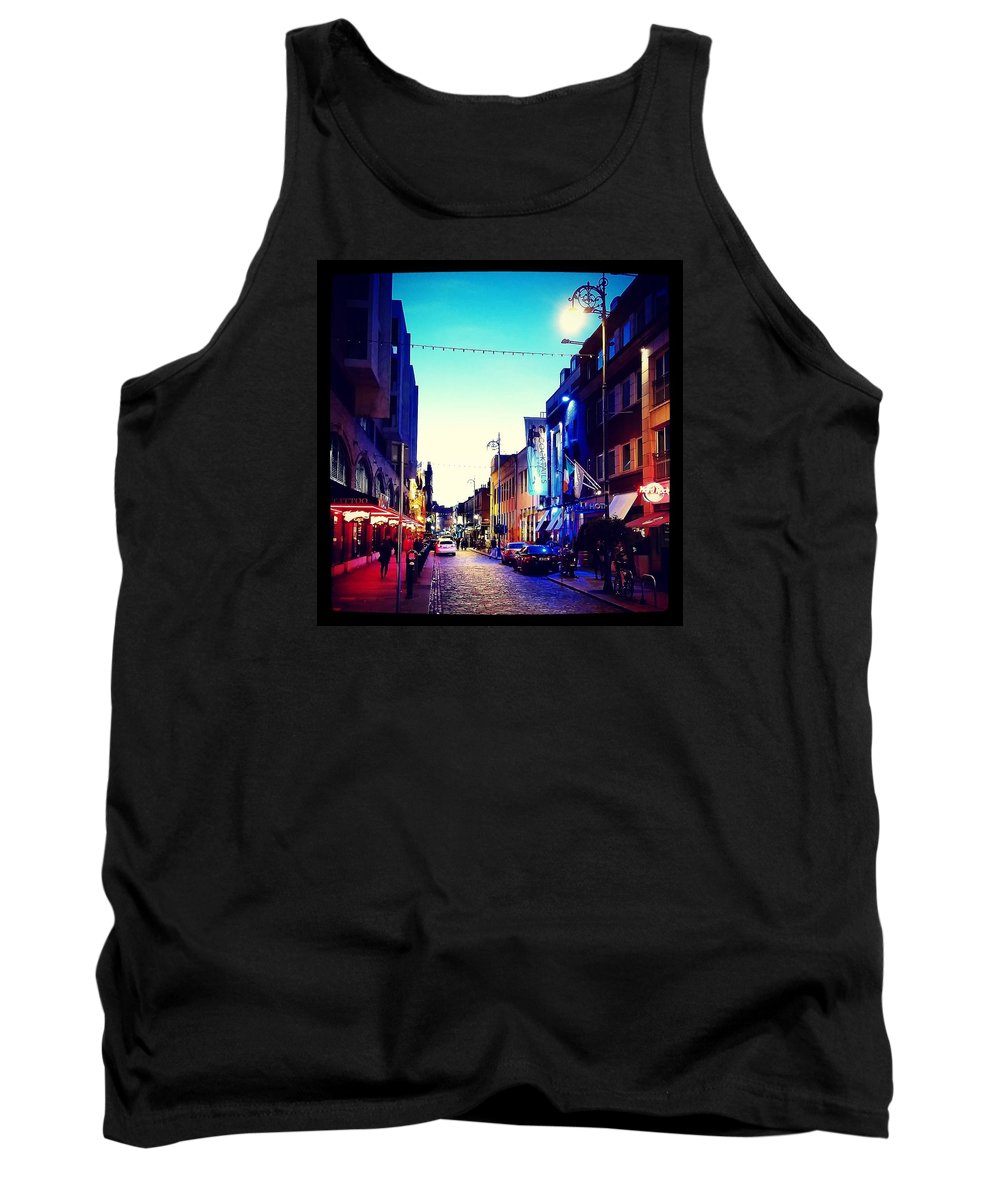 Dublin Tank Top featuring the photograph Streets Of Dublin by Adam Milsted