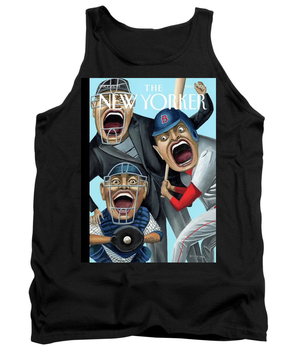 Strike Zone Tank Top featuring the painting Strike Zone by Mark Ulriksen