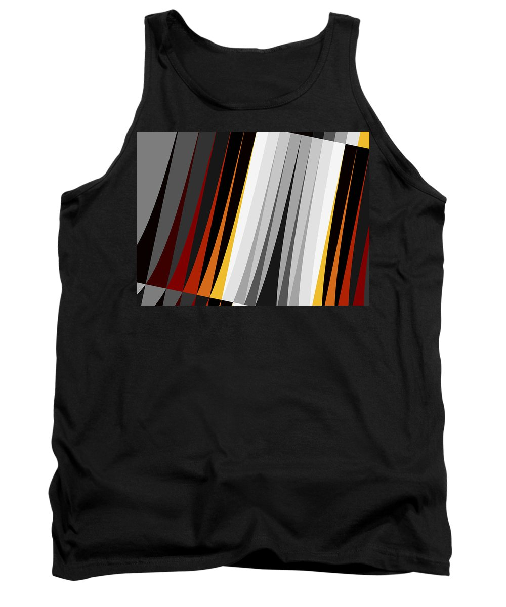 Abstract Tank Top featuring the digital art Stripes by David Ridley