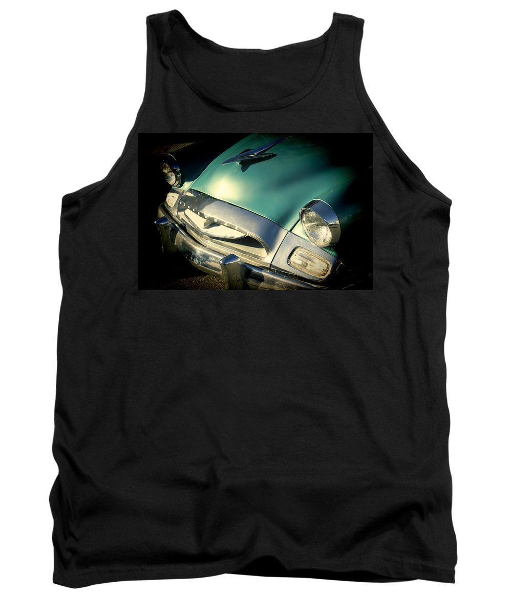 1955 Studebaker Coupe Tank Top featuring the photograph Studebaker Coupe by Cathy Anderson