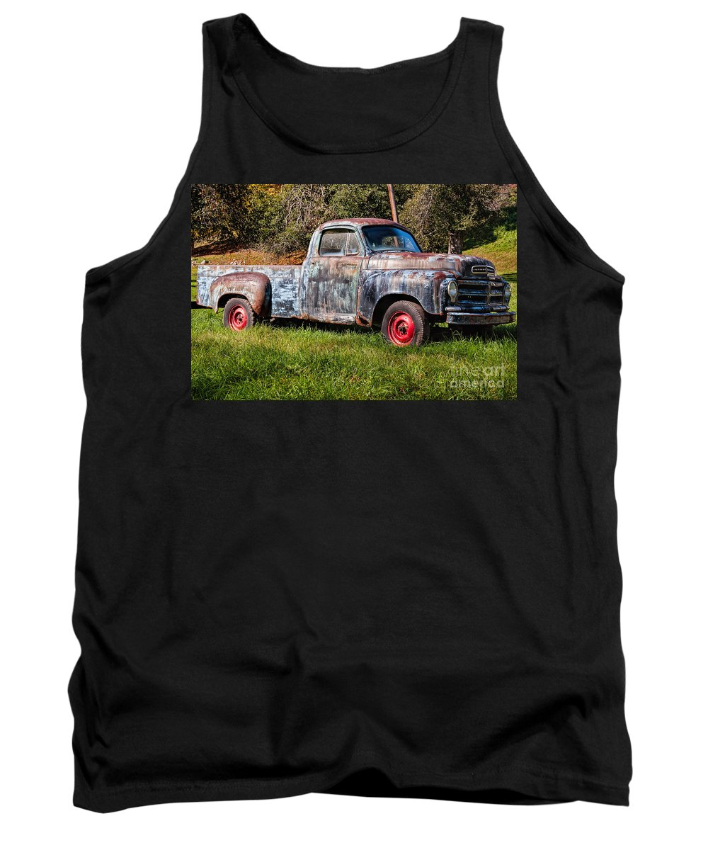 Truck Tank Top featuring the photograph Studebaker Transtar Truck In Wv by Kathleen K Parker