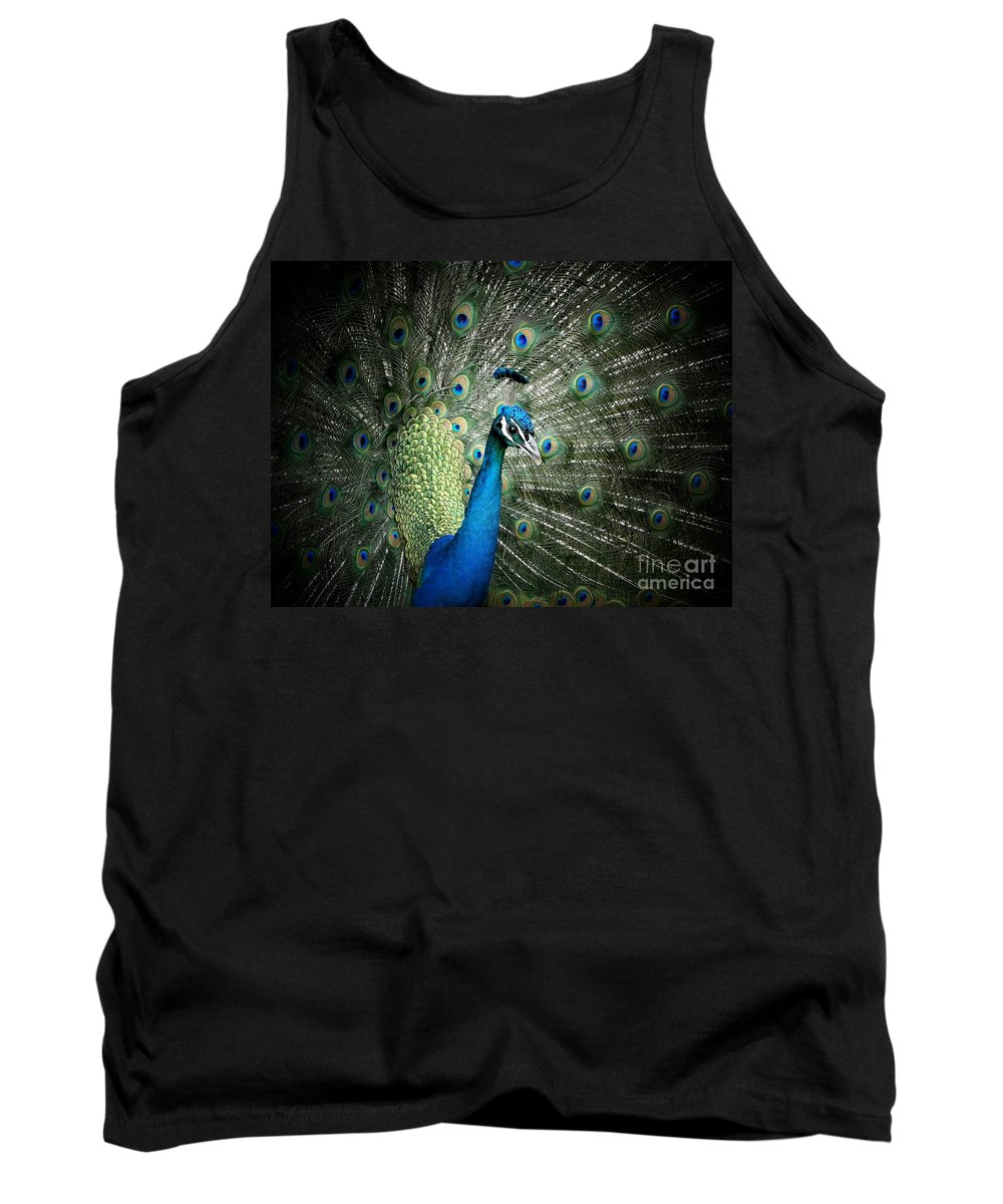 Peacock Tank Top featuring the photograph Stunning 1 by Ben Yassa