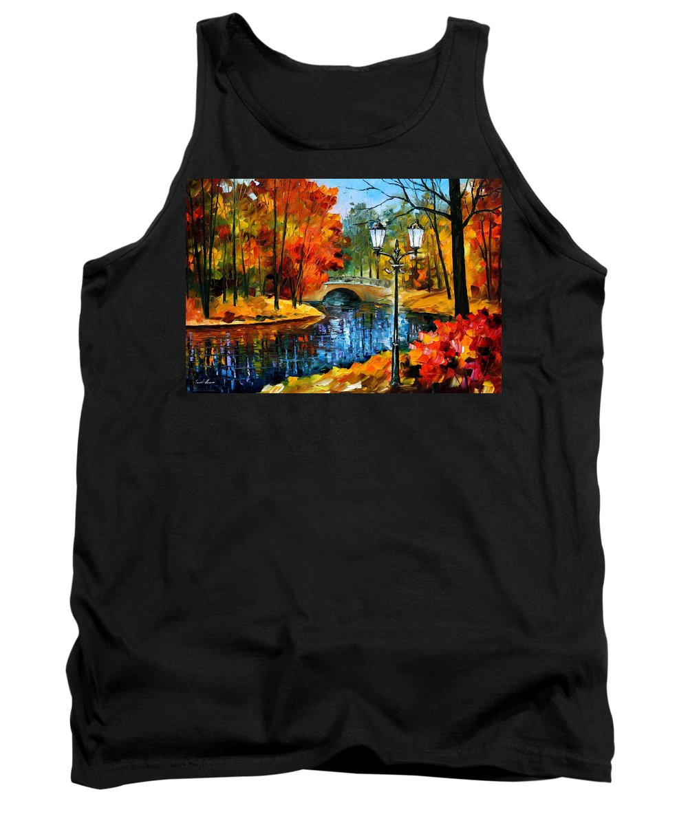 Oil Paintings Tank Top featuring the painting Sublime Park - Palette Knife Oil Painting On Canvas By Leonid Afremov by Leonid Afremov