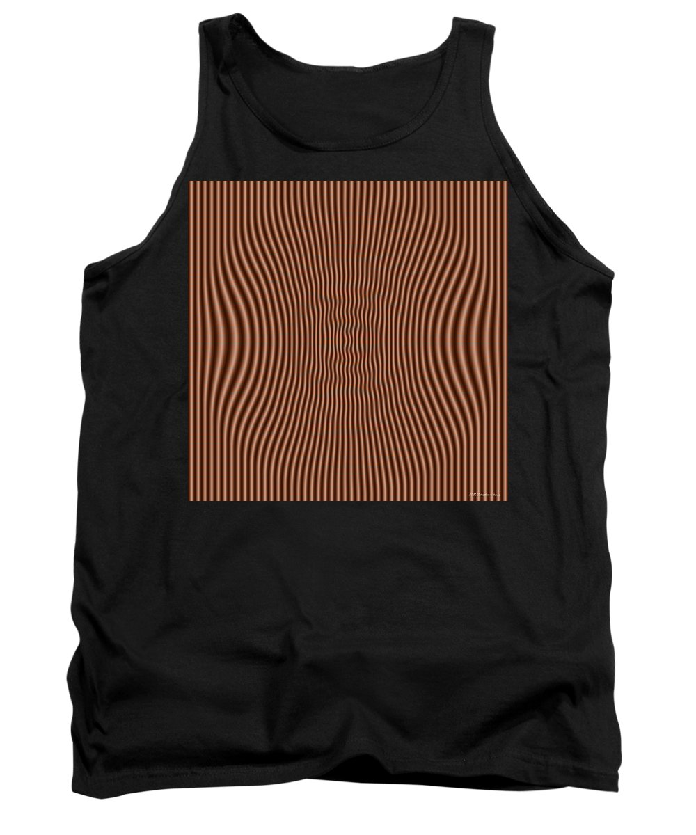 Op Art Tank Top featuring the digital art Subtle by WB Johnston