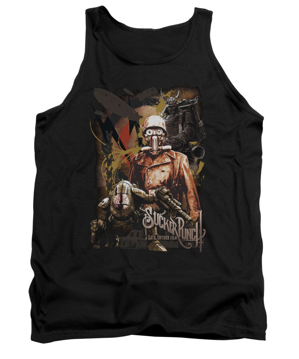 Sucker Punch Tank Top featuring the digital art Sucker Punch - Adversity by Brand A