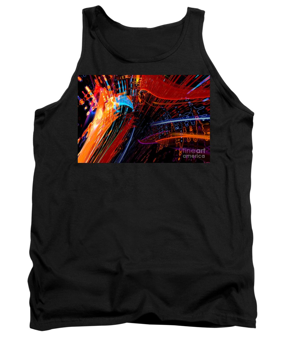 Colored Lights Tank Top featuring the digital art Sudden Celebration by Margie Chapman