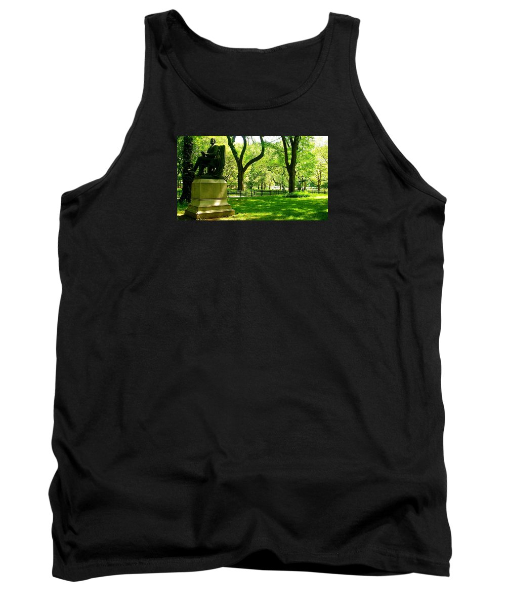 Central Park Prints Tank Top featuring the photograph Summer In Central Park Manhattan by Monique's Fine Art