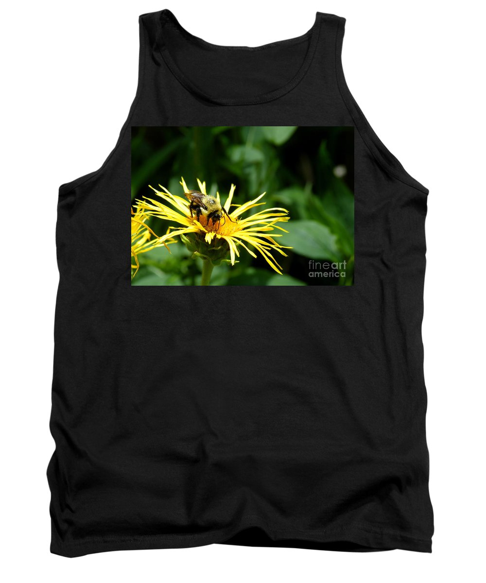 Carpenter Bee Tank Top featuring the photograph Summertime Bee by Kitrina Arbuckle