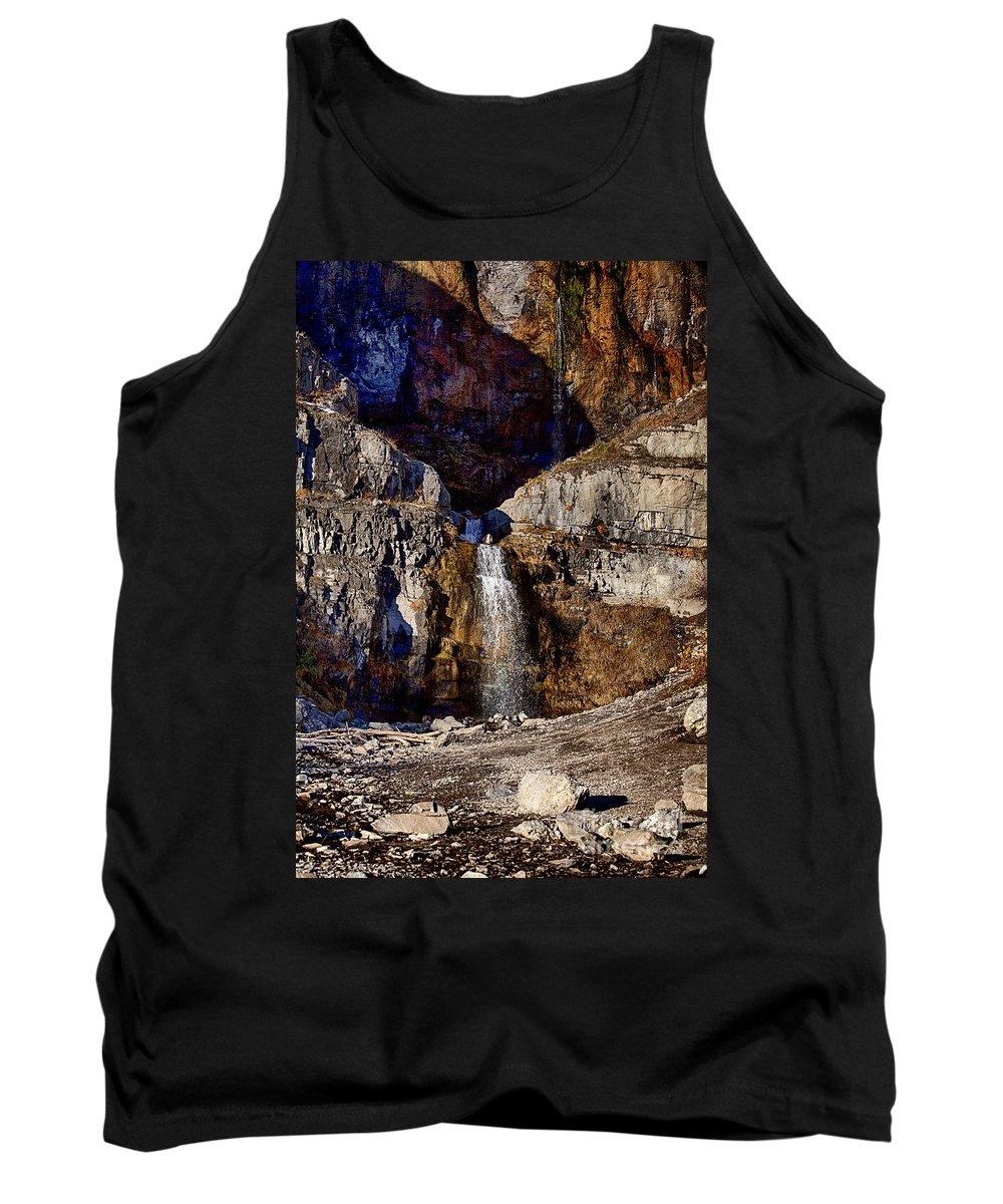 Sundance Aspen Tank Top featuring the photograph Sundance Aspen Waterfall by Douglas Barnard