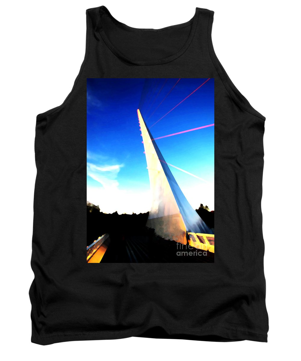 Ron Tackett Photography Tank Top featuring the photograph Sundial Bridge Redding California by Ron Tackett