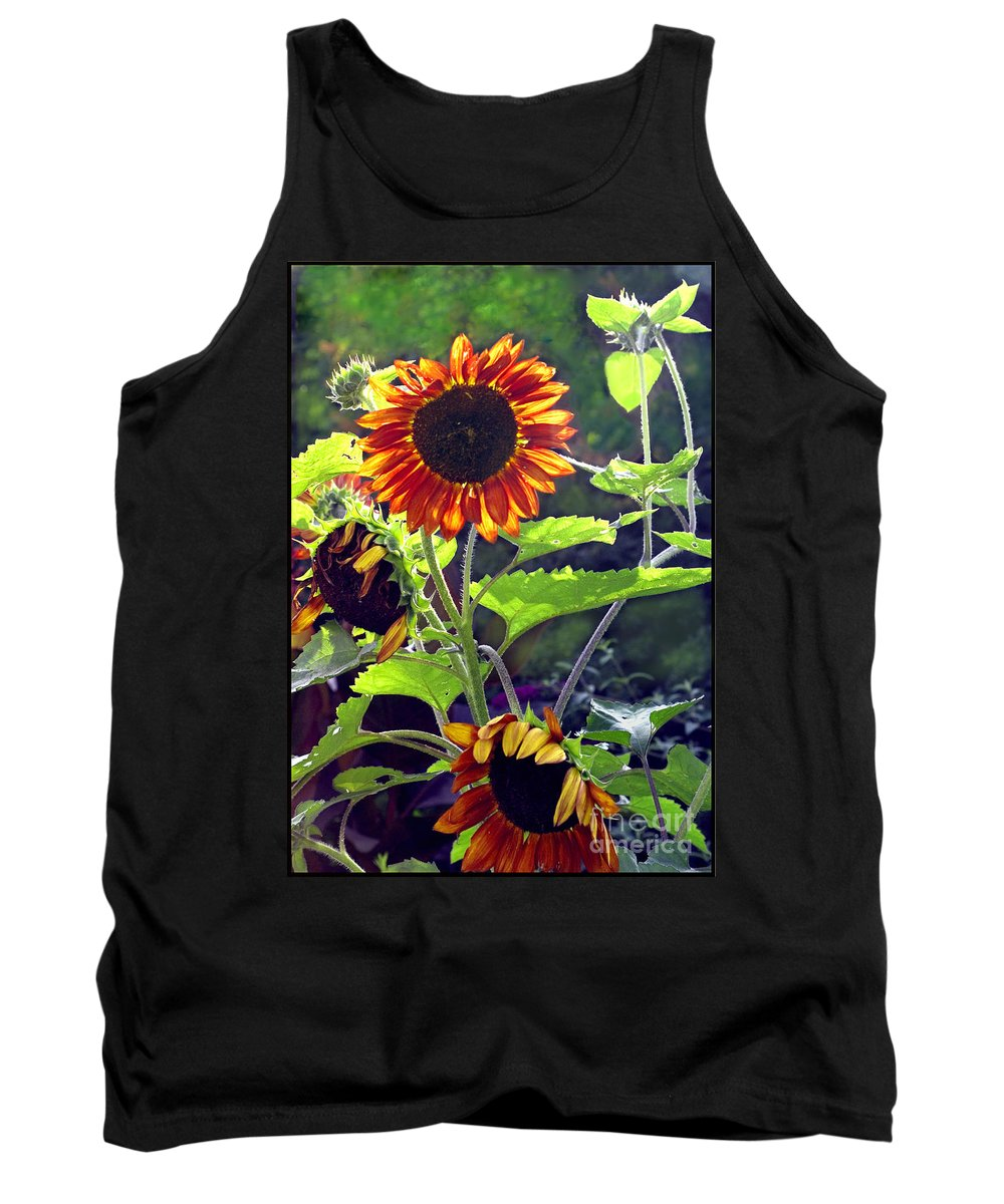 Nature Tank Top featuring the photograph Sunflowers In The Park by Madeline Ellis