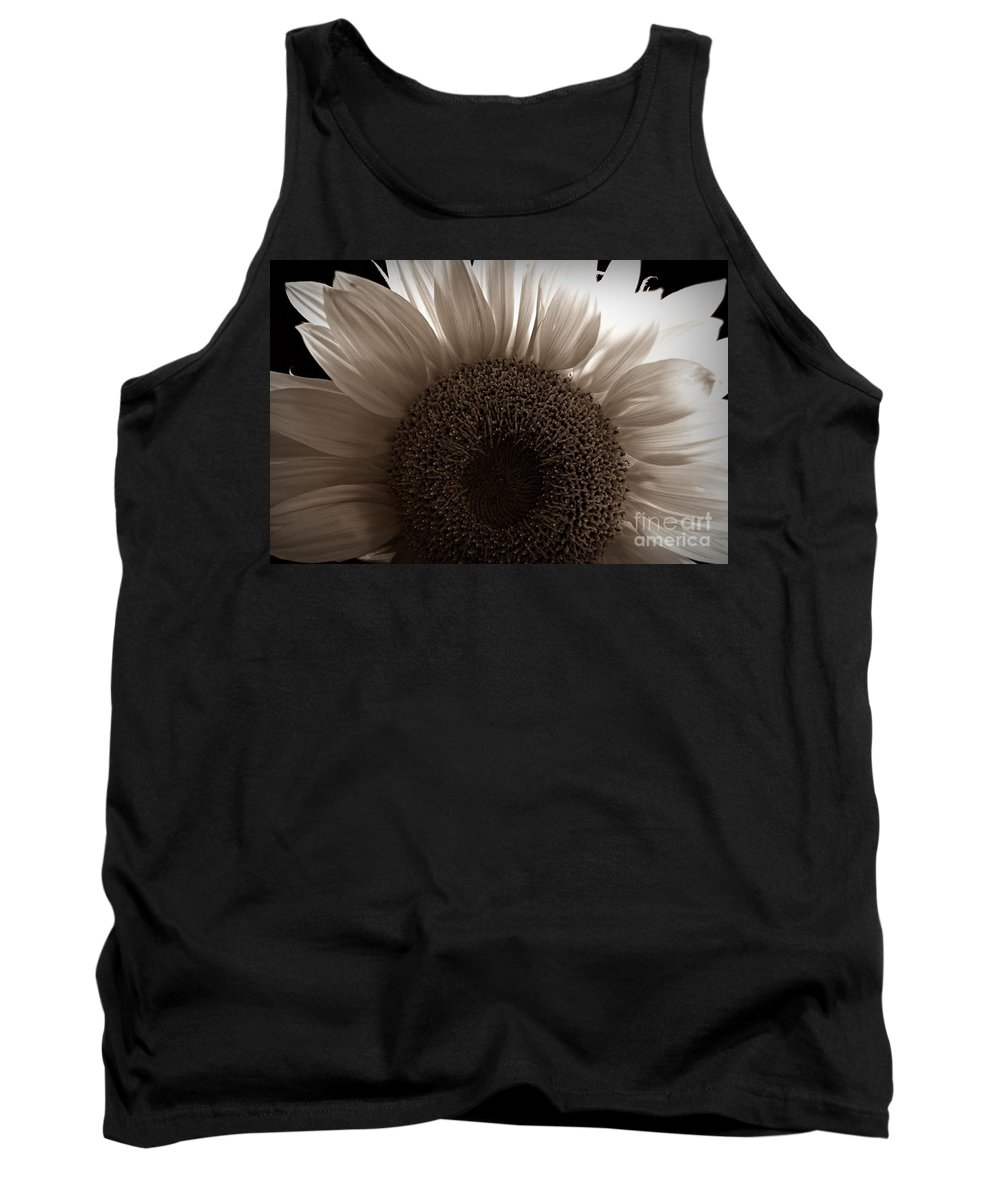 Sunlit Sepia Tank Top featuring the photograph Sunlit Sepia by Chalet Roome-Rigdon
