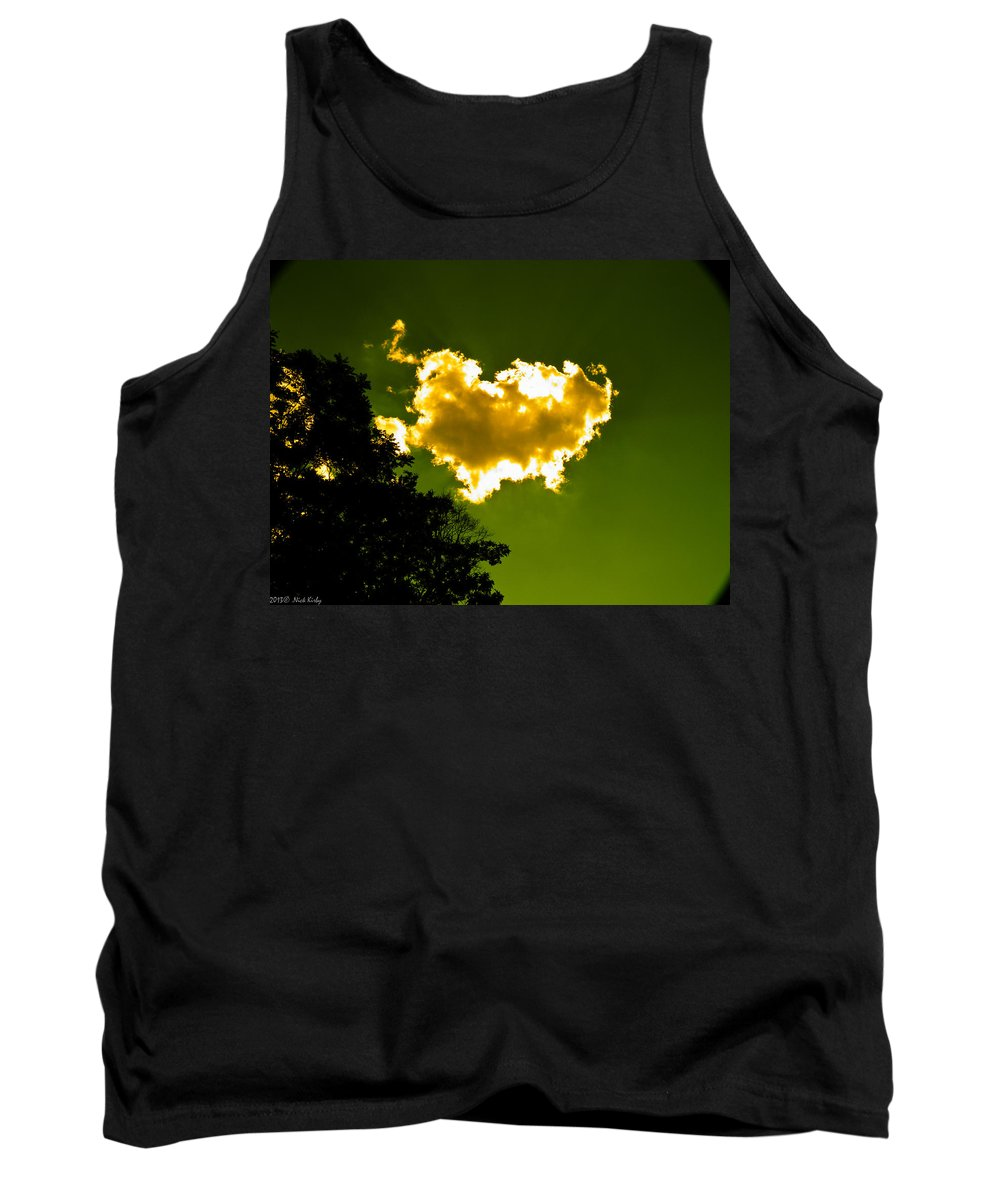 Yellow Tank Top featuring the photograph Sunlit Yellow Cloud by Nick Kirby