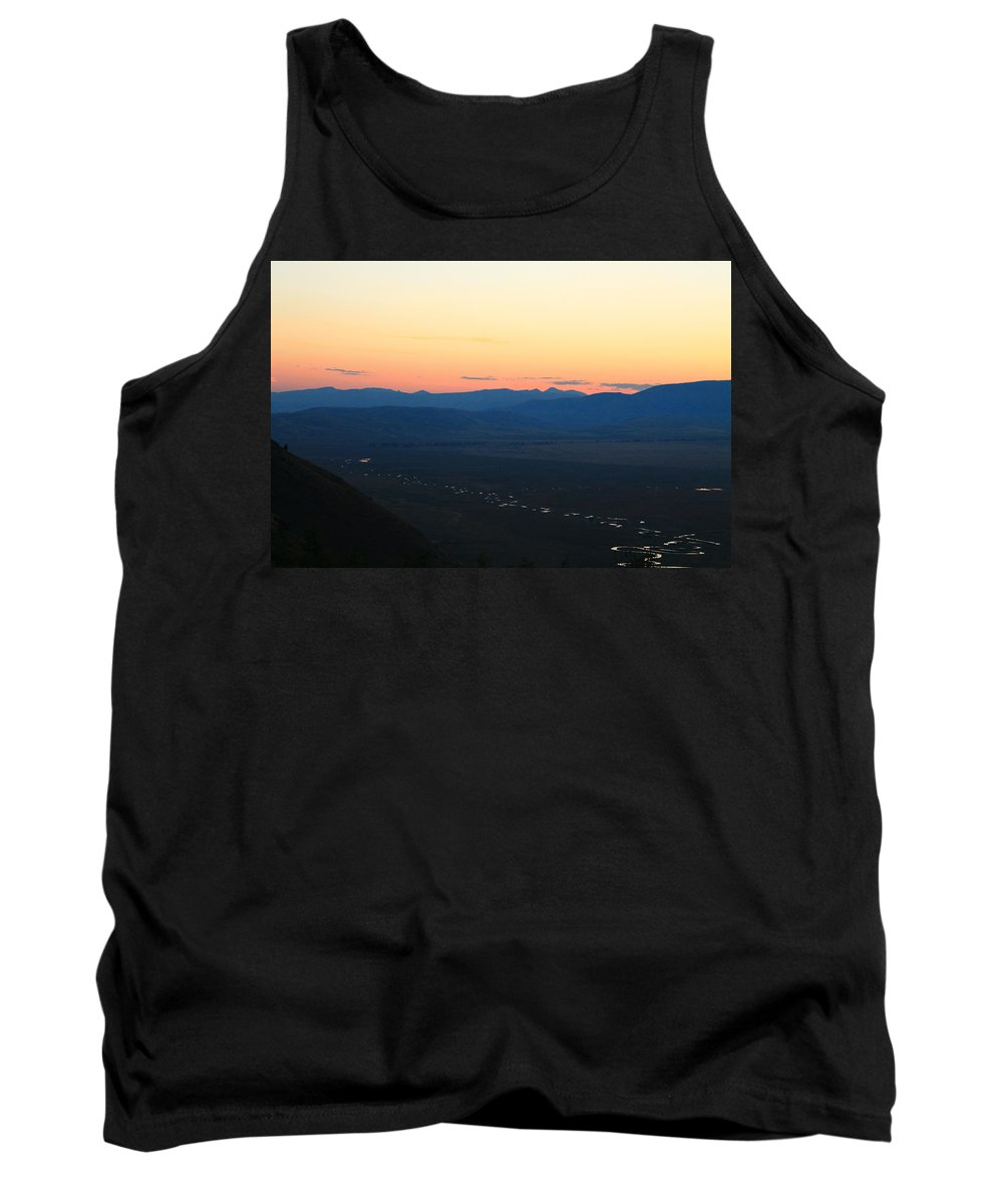 Jackson Hole Tank Top featuring the photograph Sunrise And River by Catie Canetti