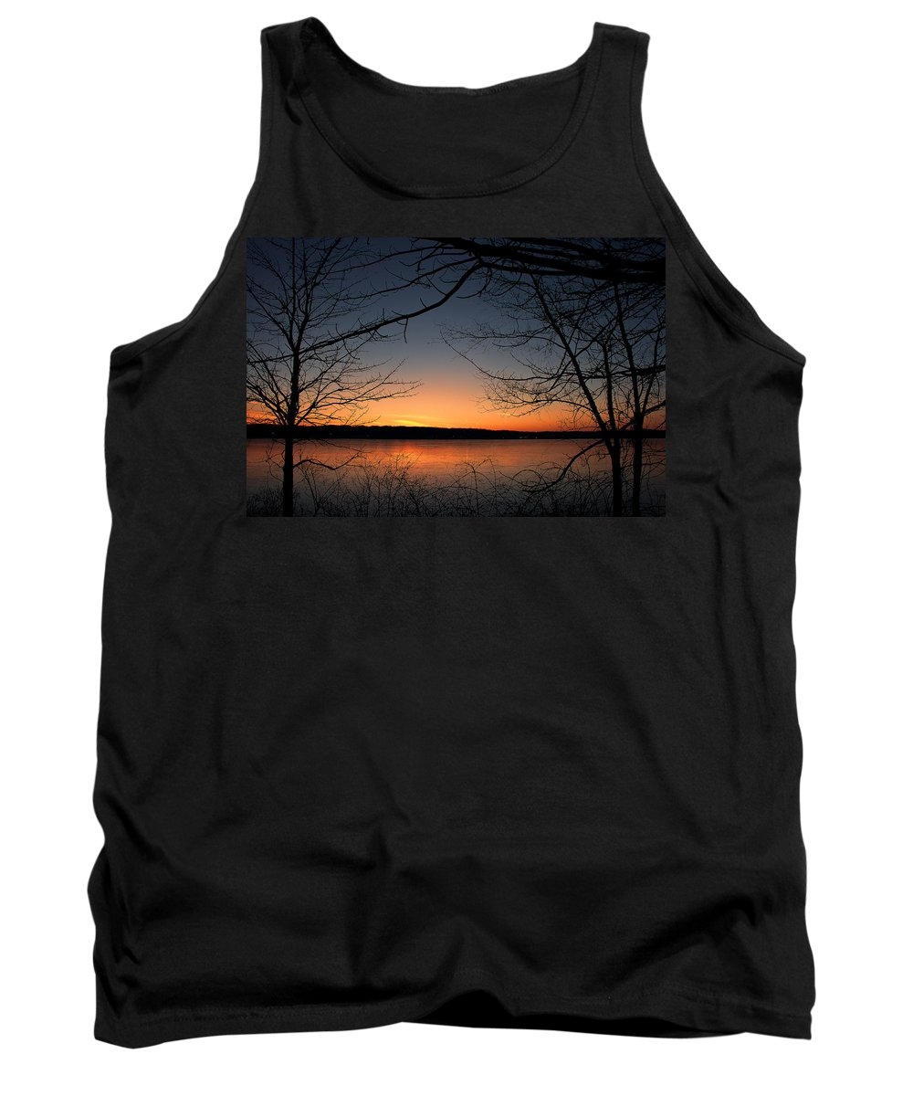Lake Tank Top featuring the photograph Sunrise On The Lake by Scott Wood
