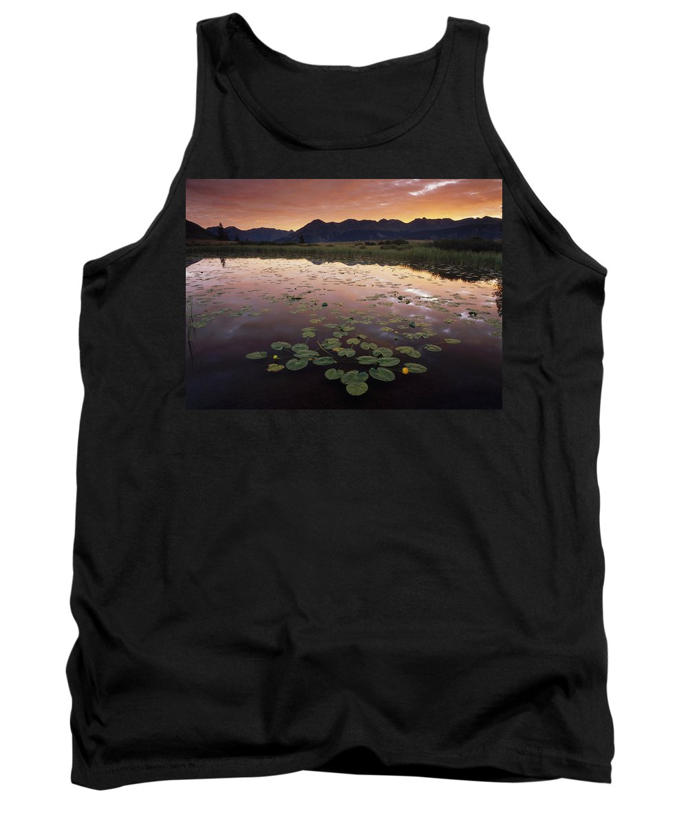 Feb0514 Tank Top featuring the photograph Sunrise Over Granadier Range Molas Pass by Tim Fitzharris