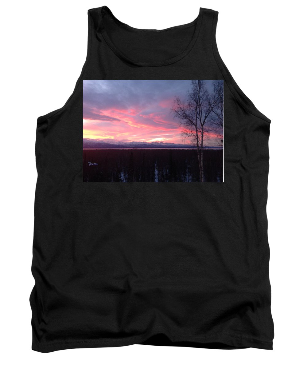 Sunrise Tank Top featuring the photograph Sunrise With Tree by Teresa Ascone
