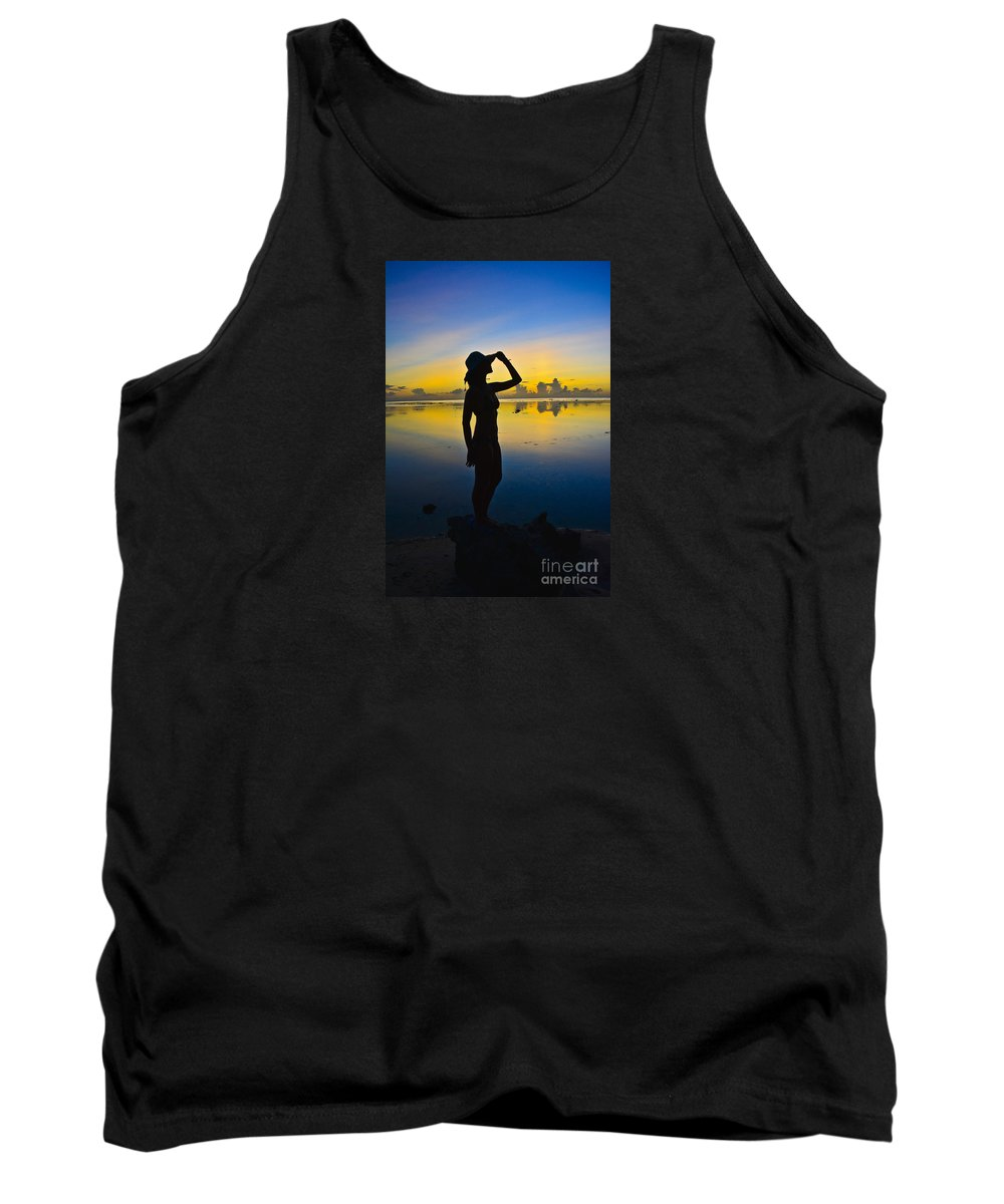 Sunset Tank Top featuring the photograph Sunset Beauty by Tim Rock