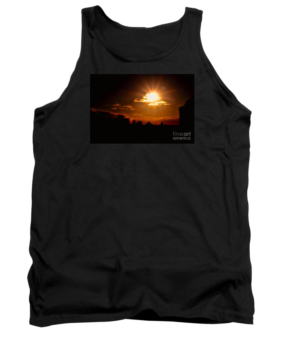 Sunset Tank Top featuring the photograph Sunset Behind Ft. Lauderdale By Diana Sainz by Diana Raquel Sainz