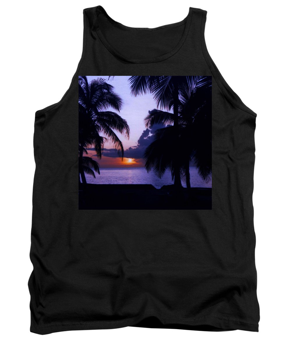 Sunset Tank Top featuring the photograph Sunset In Paradise by May Finch