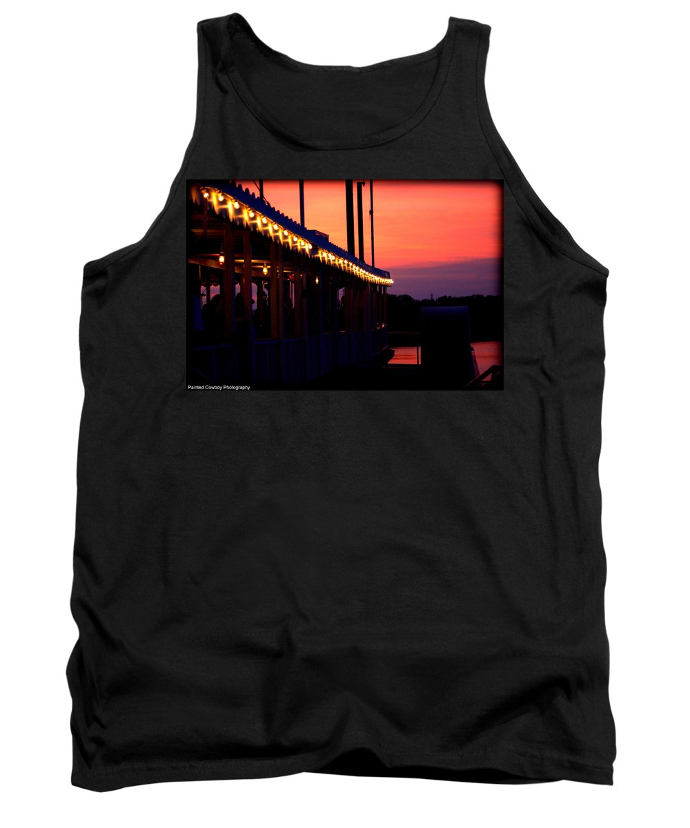 Boat Tank Top featuring the photograph Sunset Lights by Daniel Jakus