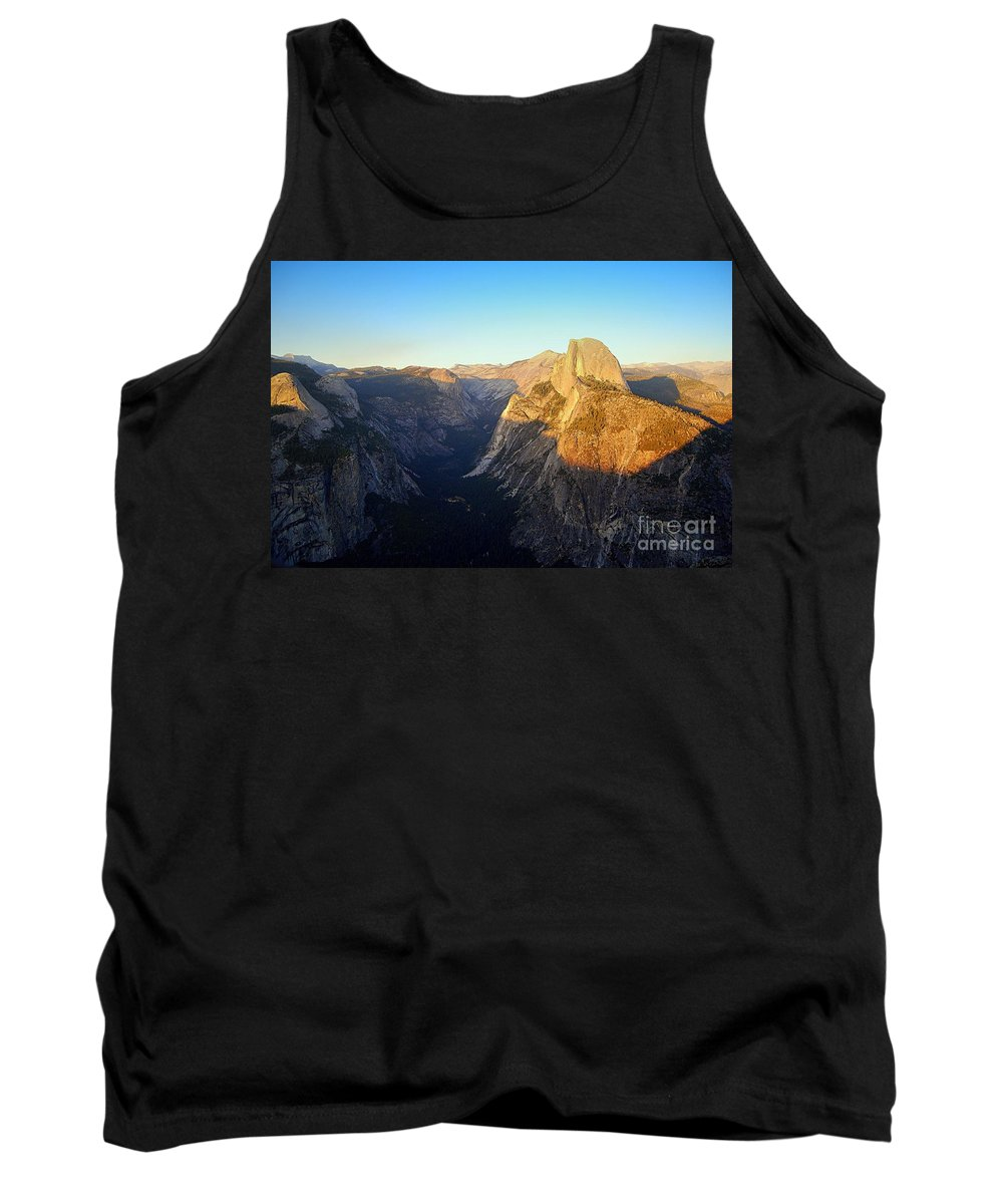 Half Dome Tank Top featuring the photograph Sunset On Half Dome In Yosemite by Catherine Sherman