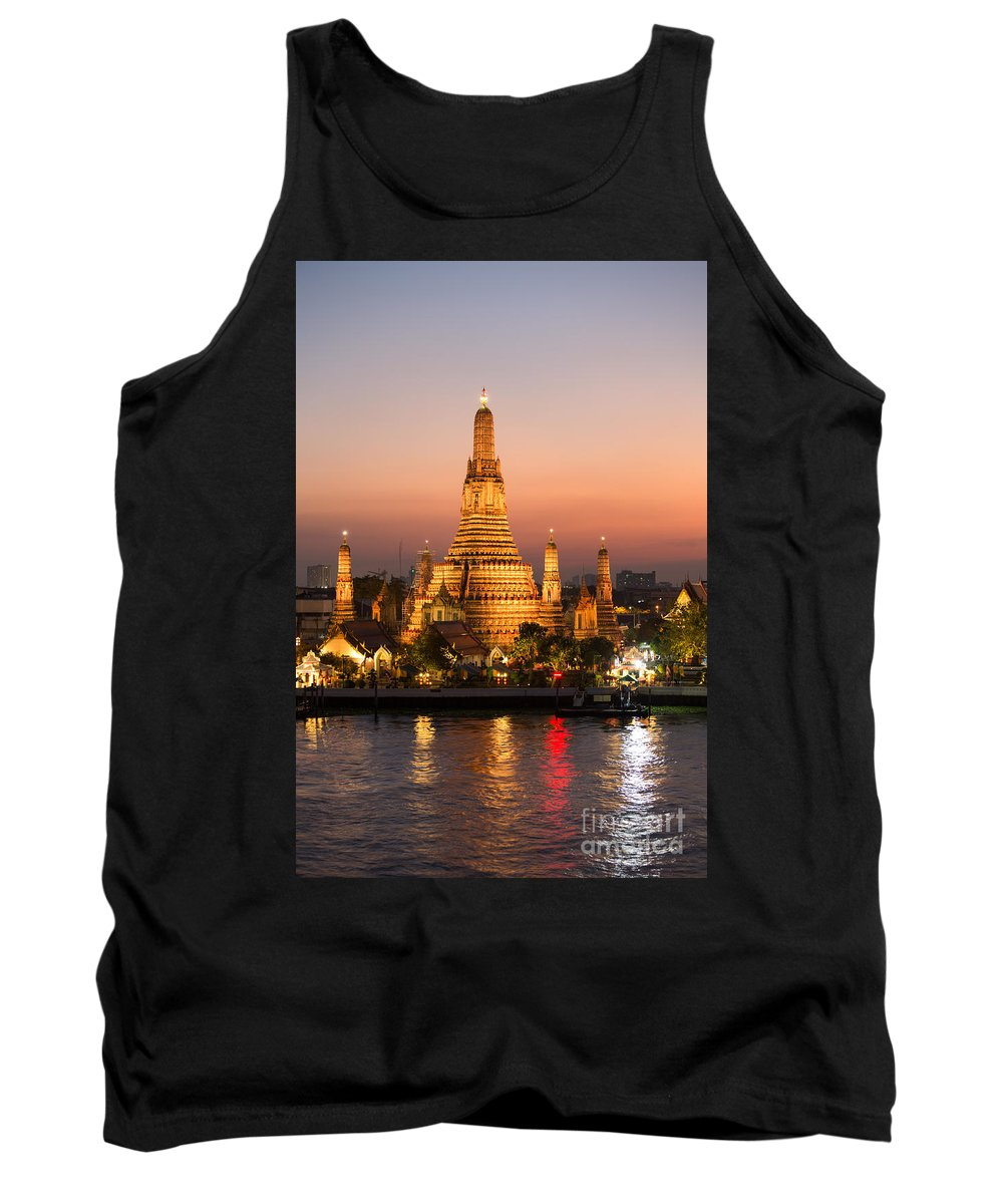 City Tank Top featuring the photograph Sunset Over Wat Arun Temple - Bangkok by Matteo Colombo