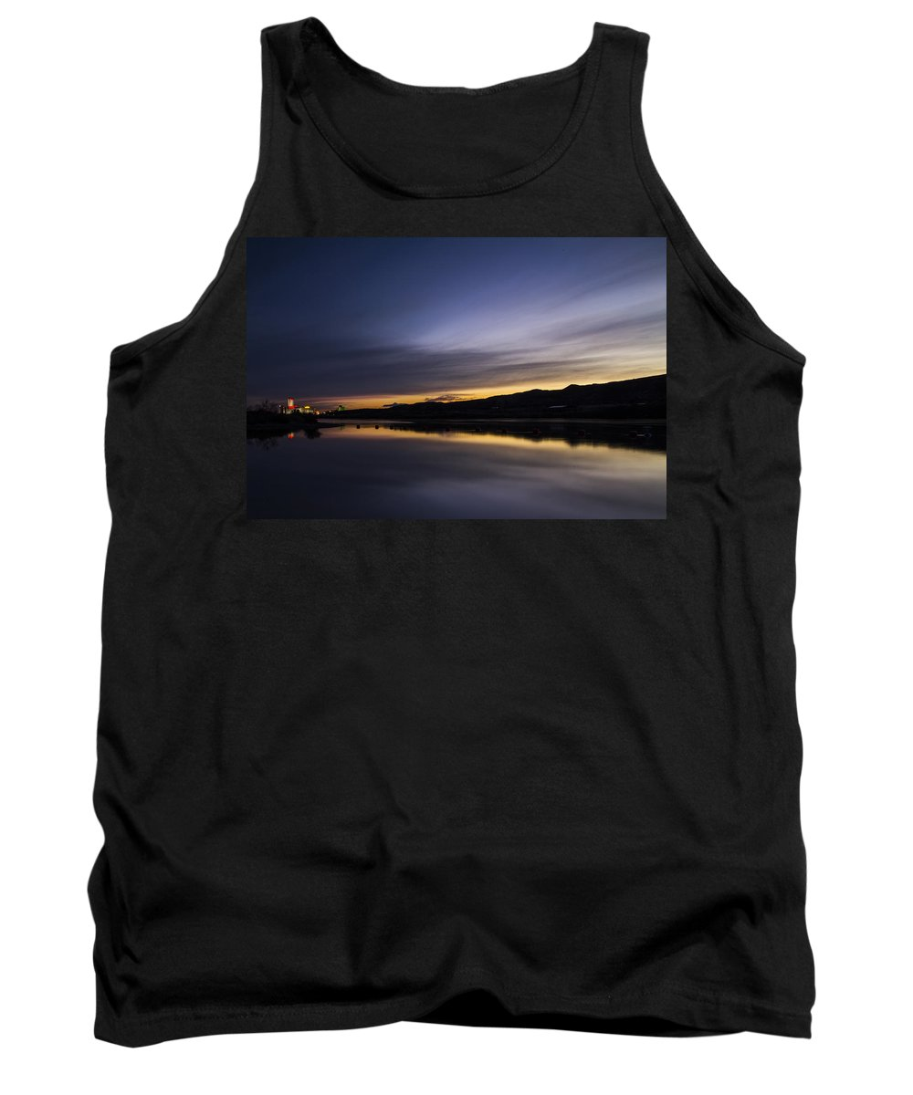 Camp Davis Tank Top featuring the photograph Sunset Riverscape by Angus Hooper Iii