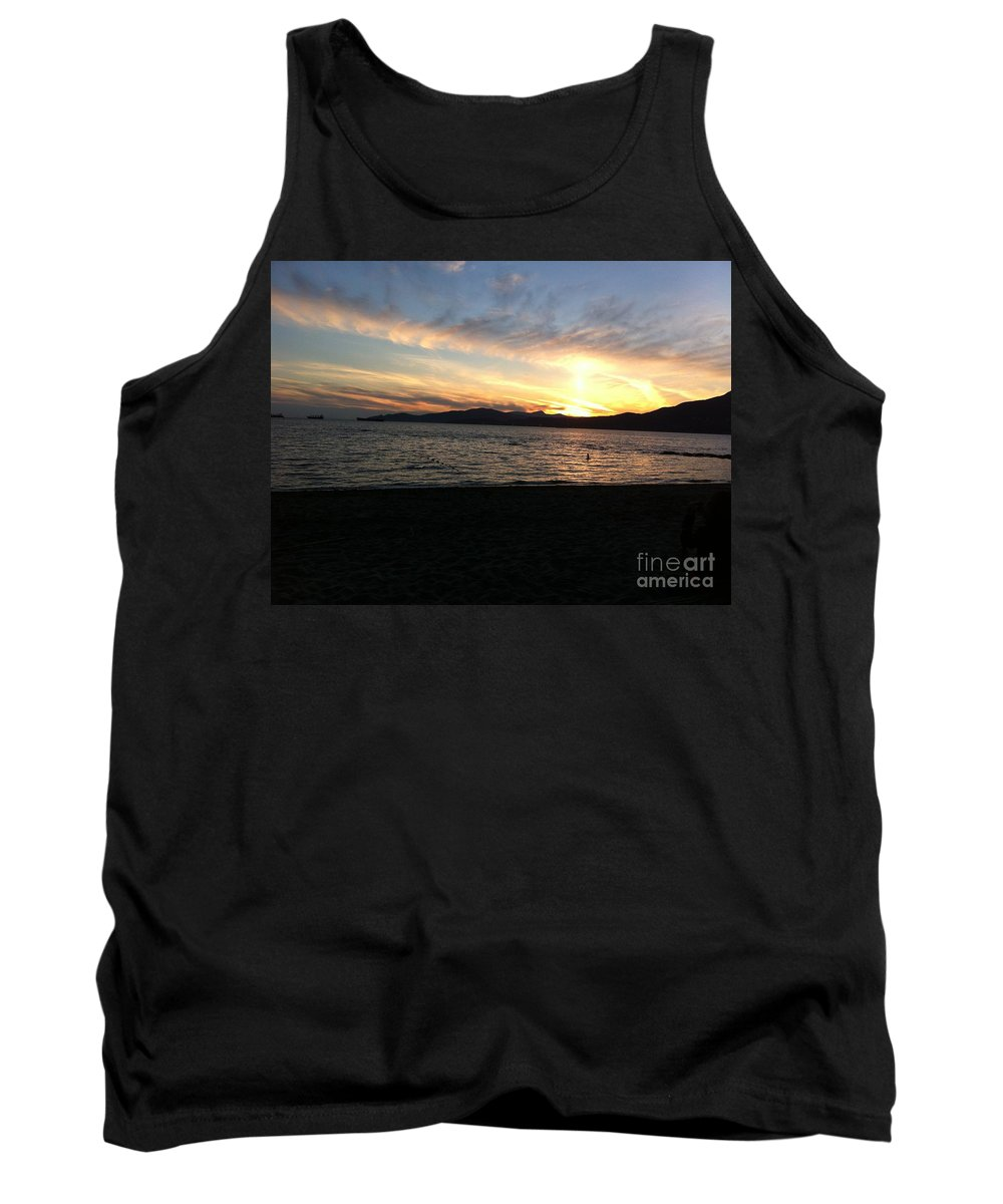 Sunset Tank Top featuring the photograph Sunset by Stephanie Bland
